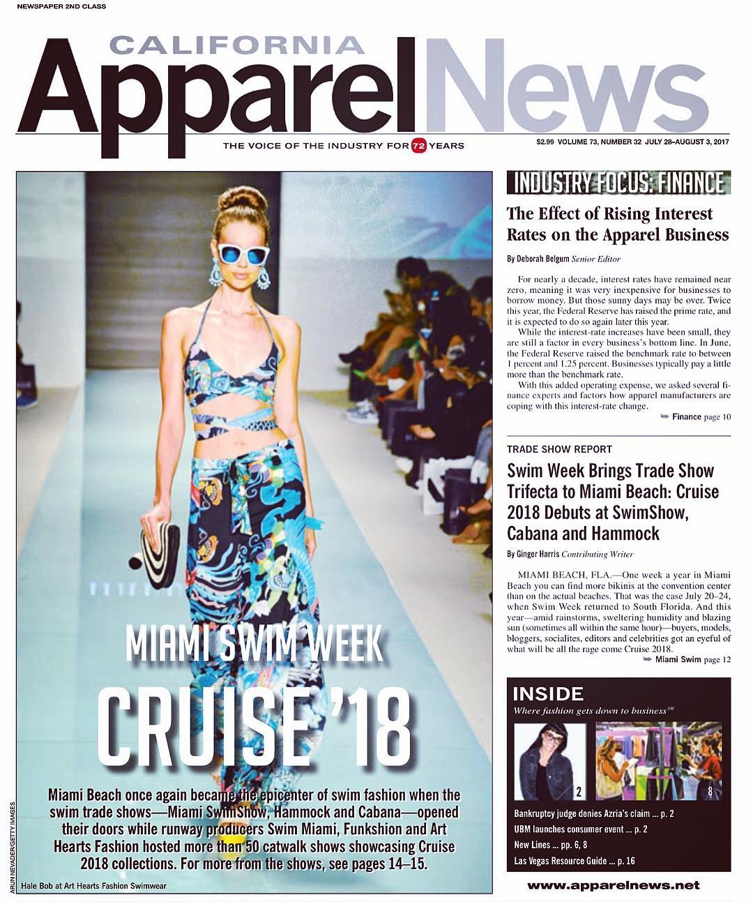 California Apparel News and Miami Swim Week