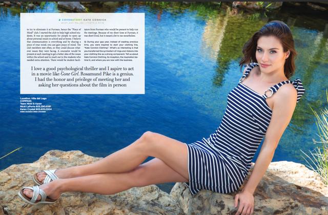 Malibu Magazine Cover - Model Kate Connick