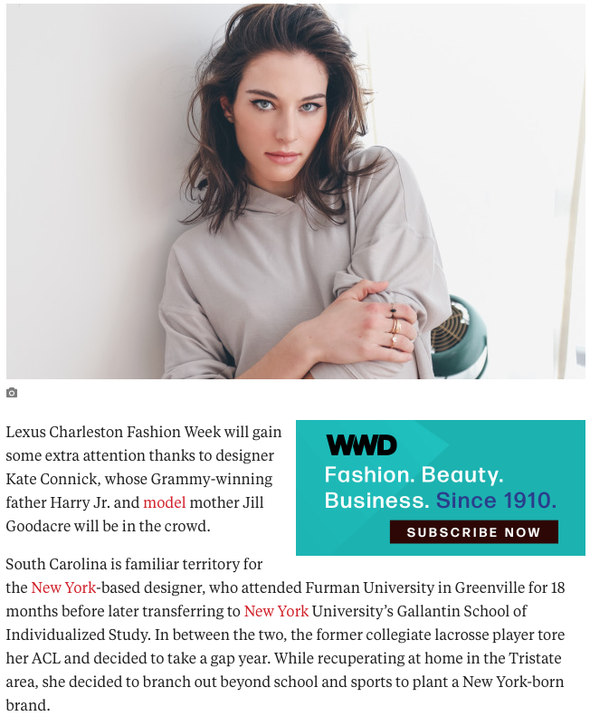 WWD KATE CONNICK CLOTHING