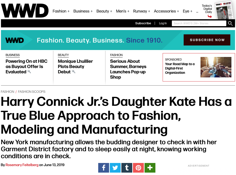 WWD WOMENS WEAR DAILY KATE CONNICK